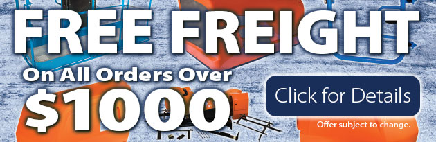 Free Freight on all orders over $1000 - Click for details